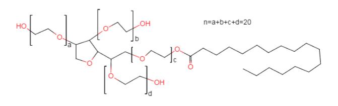 Polysorbate 60 Chemical Formula